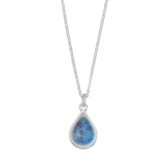 LC Lauren Conrad Jewelry - LC Lauren Conrad Blue Teardrop Pendant Necklace
